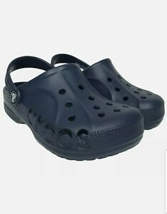 Crocs Baya Mens 7 Womens 9 Blue Clogs Slip On Slide Sandals Comfort  New