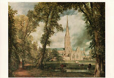 Postcard of Salisbury Cathedral 1823 Oil Painting by John Constable V&A Museum