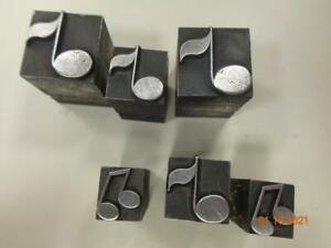 Printing Letterpress Printer Block Antique Music Note Dingbats