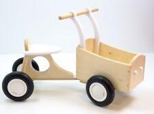 Bakfiets Holz Laufrad mit Transportkiste Kinderfahrzeug natur+weiss Rutscher