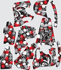 Graphic kit for 1993-1994 Honda CR125 CR250 CR Skull Decal fender shrouds