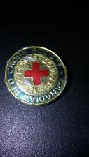 lot 3 Red Cross Society Canadian Gold Tone Buttons button Lapel Pins 14k silver