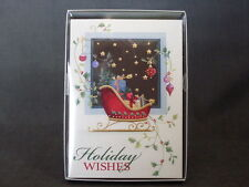 Trim A Home Gold Foil Stars Sleigh Ornaments 16 Pc Holiday Cards and Envelopes