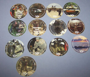 12th  Print About Uncir.  10 Cent  Set of AAFES  Pogs  from 2009 printing