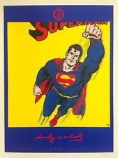 """ANDY WARHOL FOUNDATION 1ST EDT RARE 1996 LITHOGRAPH PRINT POSTER """"SUPERMAN"""" 1981"""