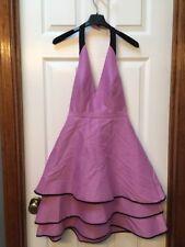 Halston Halter Color Blocked Structured Dress, Size 0,  MSRP $425.00