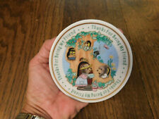 Vtg 1991 Enesco Mini small Plate Thanks for being my Friend Teddy Bears in tree