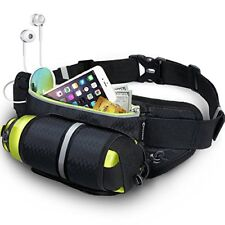 MYCARBON Running Belt with Water Bottle Holder Waterproof Bum Bag Cycling Waist