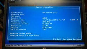 HP EliteBook 8510P - T7800, 512MB, Win Vista, NO HDD (NO OS SETUP)
