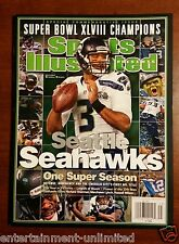 NEW! Sports Illustrated Seattle Seahawks Commemorative Super Bowl Champions