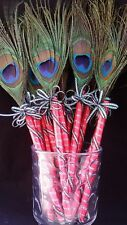 12 Peacock Feather Pen Party,forParty,Sweet16,Bridal S,Mom GIft,Weddin Favors