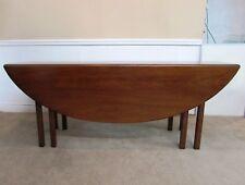 Vintage Kittinger Mahogany Drop Leaf Dining Table, Oval, Slender