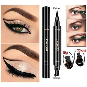 2in1 Pro Winged Eyeliner Stamp Waterproof Makeup Eye Liner Pencil Black Liquid