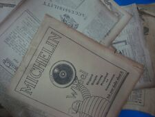 10 old news papers Cuttings of Automobiles Advertisements from England 1920's