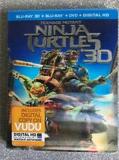 Teenage Mutant Ninja Turtles 3D  (Blu-ray 3D/Blu-ray/DVD/Digital HD, 2013) NEW