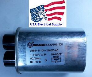 Microwave Oven H.V. High Voltage Capacitor Model: CH85-21100  2100VAC 1.00uF