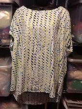 Ava & Viv Plus Size 4X Blouse Career Church Cap Sleeve Polyester 726