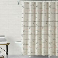 ED Ellen DeGeneres Animal Lines Shower Curtain Rustic Farmhouse Rooster Goat Dog