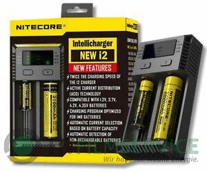 Nitecore NEW i2 Intellicharger Ladegerät - Für Li-Ion & Ni-MH Akkus mit Display