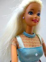 Original barbie doll summer dress & handbag and high heels Pretty doll