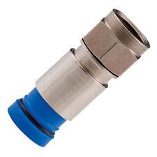 100 RG6 BELDEN BLUE Snap N Seal Compression F Connectors SNS1P6 Coax Cable 21mm