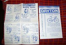 DAYTON ROADSTER & SPORTS CYCLES & FLAMINGO SPORTS LEAFLETS (2) 1936  BICYCLE