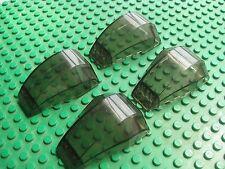 Lego Windscreen 6x4x2 Trans-Black Smoke STAR WARS Lot of 4 pcs 7676 7163