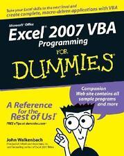 Excel 2007 VBA Programming FD by Walkenbach, John