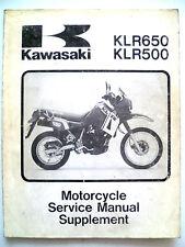 GENUINE KAWASAKI KLR650-A1 KLR500-A1  WORKSHOP SERVICE REPAIR MANUAL SUPPLEMENT