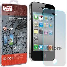 """Pellicola in Vetro Temperato Per iPhone 4 4S Proteggi Salva Schermo Display 3,5"""""""