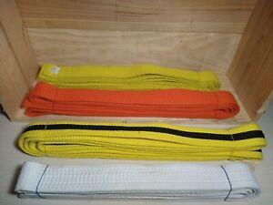 LOT OF 3 Taekwondo Judo MMA Karate Belts Martial Arts Belts Different Color