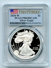 2020 W $1 Proof Silver Eagle PCGS PR69DCAM First Strike