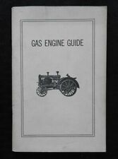 1910 GAS ENGINE COURSE OF GAS ENGINE REVIEW CASE DEERE IH MANUAL 1965 REPRINT