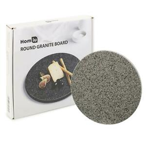 Homiu Granite Chopping Board Round Easy Clean Hard-Wearing Speckle Finish Circle