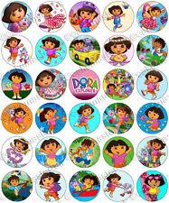 30 x dora the explorer partie collection comestibles riz tranche papier Cupcake toppers