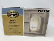 Hampton Bay Wall Patio Porch Deck Light Outdoor Exterior Lighting, Oval, White