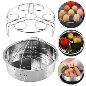 Stainless Steel Steamer Cooker Steam Pot Set Pot Grid Basket Kitchen Cookware