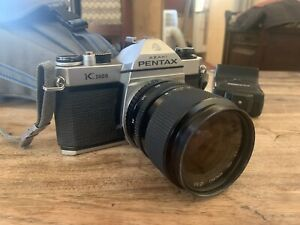 Asahi Pentax K1000 Great Condition Metre Working With Lens, Flash And Bag