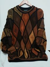 Vintage TUNDRA Multi Color Cotton Pullover Sweater Extra LARGE OH Canada! RARE