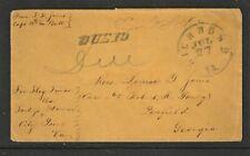 P.O.W. CIVIL WAR Prisoner of War 1864 Flag of Truce Cover JOHNSON'S ISLAND