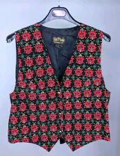 Bob Mackie Women's Medium Vest Ladybug Wearable Art Novelty Print 100% Silk A7
