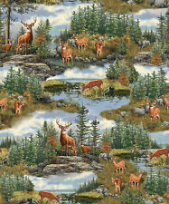 FABRIC Quilting Treasures ~ DEER MOUNTAIN ~ Hautman Brothers (24791 G) by 1/2 yd