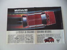 advertising Pubblicità 1987 LANCIA DELTA HF TURBO