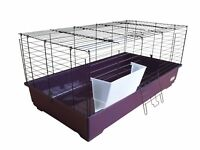 Heritage Purple Rabbit Cage Cavie 80cm Indoor Guinea Pig Ferret Rodent Hutch