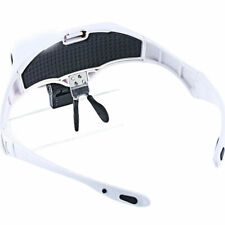 Headband Magnifier Head Visor Loupe Jeweler Magnifying Glass Lens LED Light Tool