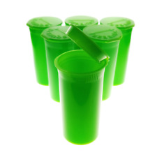 50 Green Pop Top  13 Dram PHILIPS RX® Bottle Vial Pill Box Herb Container