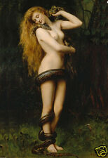 Large A3 SiZE * LILITH * QUALITY CANVAS PRINT * John Collier