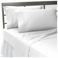 1200 TC 100%Egyptian Cotton Complete Bedding Items US Sizes Color White Solid