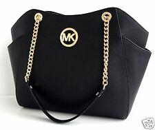 Michael Kors Tasche/Bag JET SET TRAVEL LG CHAIN SHLDR  HOBO SAFFIANO BLACK NEU!