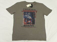 $39 NWT Mens Lucky Brand T-Shirt Johnny Cash Poster Tee Nickel Grey Size S M680